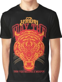 tiger muay thai thailand martial art 2 Graphic T-Shirt
