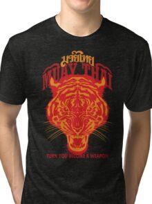 tiger muay thai thailand martial art 2 Tri-blend T-Shirt