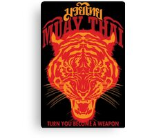 tiger muay thai thailand martial art 2 Canvas Print