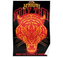 tiger muay thai thailand martial art 2 Poster