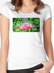 HUMMINGBIRD LUNCH TIME Women's Fitted Scoop T-Shirt