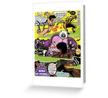 Space Chick & Nympho: Vampire Warrior Party Girl Comix #2 - Comic Book Cover  Greeting Card