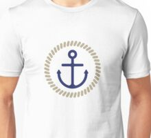 Anchor with Rope Motif Unisex T-Shirt
