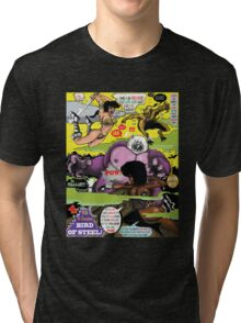 Space Chick & Nympho: Vampire Warrior Party Girl Comix #2 - Comic Book Cover  Tri-blend T-Shirt