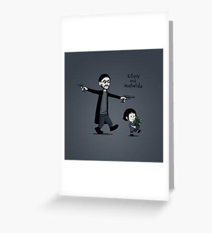 Leon and Mathilda Greeting Card