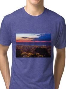 Sunrise over Barcelona, Spain Tri-blend T-Shirt