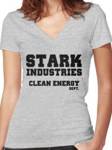 Stark Industries Clean Energy Dept. Women's Fitted V-Neck T-Shirt