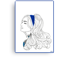 Tatoo girl Canvas Print