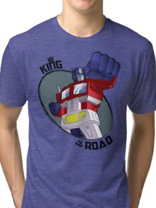 Optimus Prime - King of the Road (punch) Tri-blend T-Shirt