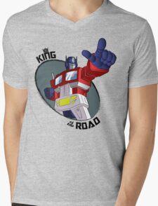 Optimus Prime - King of the Road (point) Mens V-Neck T-Shirt
