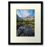 Mountain Lake Alberta Canada Framed Print