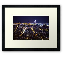 Barcelona by Night Framed Print
