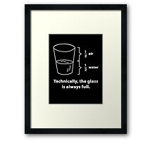 Technically, The Glass Is Always Full Framed Print