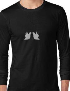 Love Doves Grey Long Sleeve T-Shirt