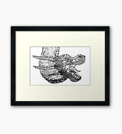 Dragon Sketch Framed Print