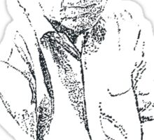 Hitchens drawn with spots Sticker