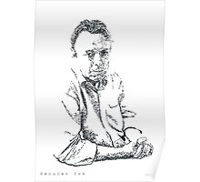 Hitchens drawn with spots Poster