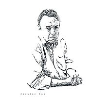 Hitchens drawn with spots Photographic Print