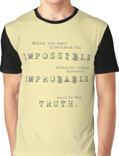 Sherlock Holmes - Impossible Improbable Truth Graphic T-Shirt