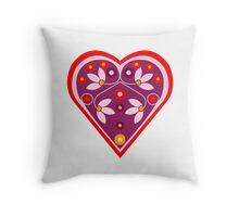 Folk heart 3 centre Throw Pillow