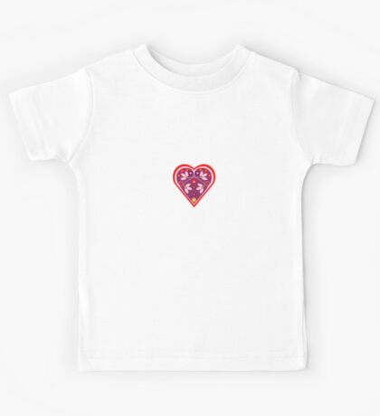 Folk heart 3 centre Kids Tee