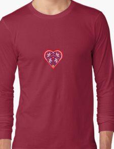 Folk heart 3 centre Long Sleeve T-Shirt