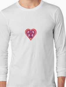 Folk heart 3 centre Long Sleeve T-Shirt