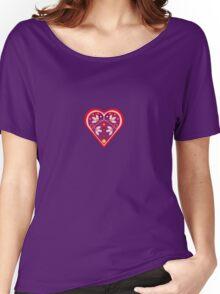 Folk heart 3 centre Women's Relaxed Fit T-Shirt