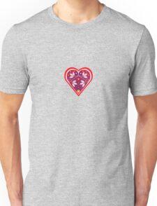 Folk heart 3 centre Unisex T-Shirt