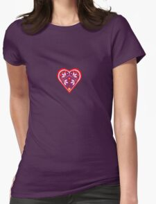 Folk heart 3 centre Womens Fitted T-Shirt