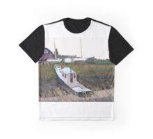 Boat near Highbridge boatyard. Graphic T-Shirt