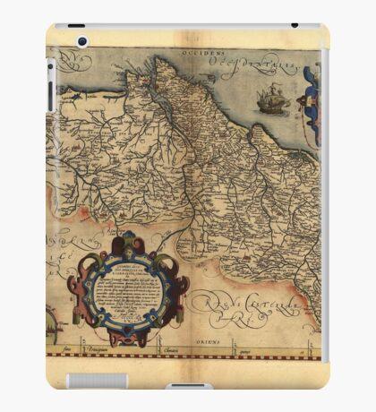 Antique Map of Portugal, by Abraham Ortelius, circa 1570 iPad Case/Skin
