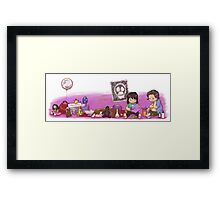 Mighty Boosh kids playing Framed Print