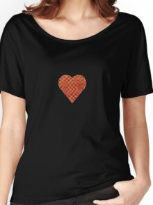 halftone heart Women's Relaxed Fit T-Shirt
