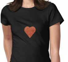 halftone heart Womens Fitted T-Shirt