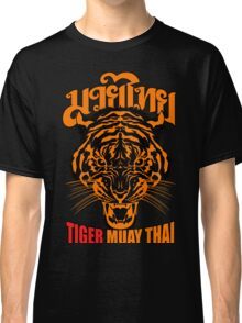 tiger muay thai thailand martial art 3 Classic T-Shirt
