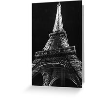 Eiffel Tower in Black & White Greeting Card