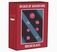 In Case of Adventure Break Glass - Pink Dice Kids Tee