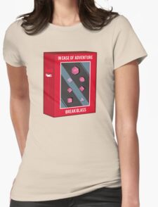 In Case of Adventure Break Glass - Pink Dice Womens Fitted T-Shirt