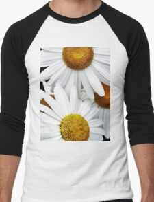 Daisies Abstract Men's Baseball ¾ T-Shirt