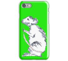 Mouse in Green iPhone Case/Skin