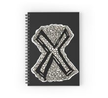 Black and White Letter X Spiral Notebook