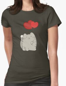 eli, the love cat Womens Fitted T-Shirt