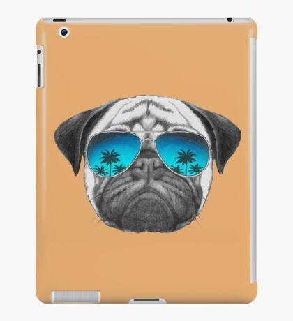 Pug Dog with sunglasses iPad Case/Skin