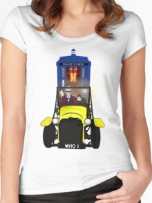 Time Lord Road Trip! Women's Fitted Scoop T-Shirt