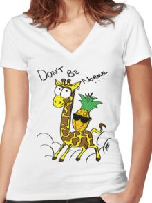 Don't Be Normal Women's Fitted V-Neck T-Shirt