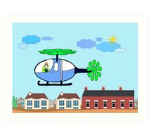 The Helicopter Art Print