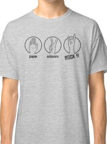 Paper Scissors Rockk Classic T-Shirt
