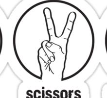Paper Scissors Rockk Sticker