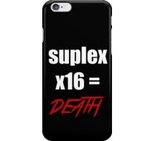 brock leasnar suplex death iPhone Case/Skin